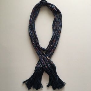 American Eagle Scarf with Paisley and Fringe
